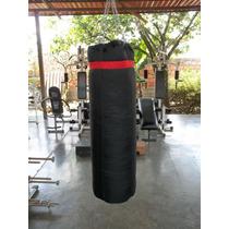 Saco Box En Lona 110x35cm Para Boxeo Y Artes Maciales