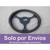 Forro Volante Semicuero Negro O Con Ribetes Plata Doble Cara