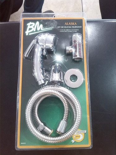 Kit de ducha telefono bm con llave de arresto modelo alaska for Llave ducha telefono