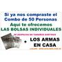 50 Bolsas Celofán Individuales Para Combo De 50 Personas