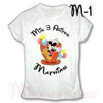 Mickey Mouse Franela Camisa Personalizada Doble Estampado