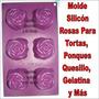 Molde Silicón Ponquesitos Rosa Torta Quesillo Gelatina Rosit