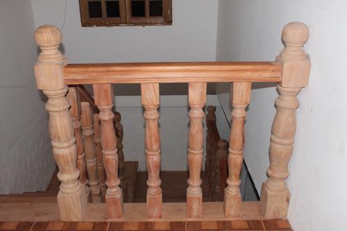 Escaleras de madera balustras pasamanos y contra huellas - Precio escaleras de madera ...