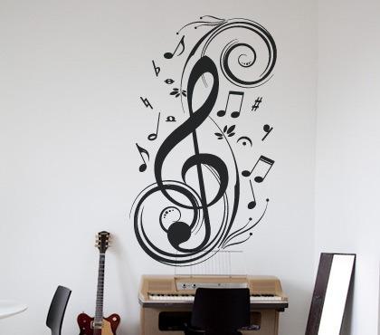Vinilos decorativos motivo musicales rotulados paredes for Precios vinilos decorativos