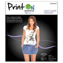 Printon Photo Paper Transfer Light8.5 X11 10hoj Ptoptb150l