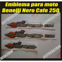 Kit De Emblemas Calcomanias Moto Benelli Nero Caffe 250