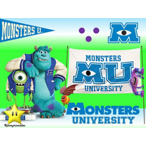 Kit Imprimible Monster Inc University Diseñá Tarjetas