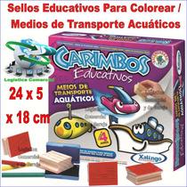 Sellos Material Educativo Maestros Niños Transporte Acuático