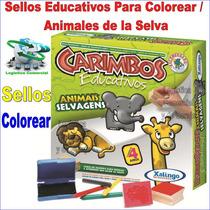 Sellos Material Educativo Maestros Niños Animales De Selva