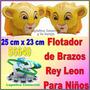 Flotador Inflable Brazo Niños Intex Disney Rey Leon 56649
