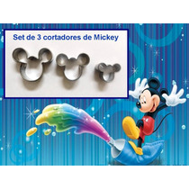 Cortadores De Masa Repostería Mickey