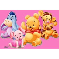 Kit Imprimible Winnie Pooh Bebe Cotillon Tarjetas Invitacion