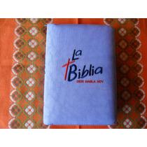 Biblia Dios Habla Hoy Con Forro Lila Y Deuterocanonicos