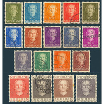 Estampillas Holanda Serie 18 Valores 1949 - 1950 Usada