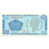 Billete De 2 Bolívares - Tinoquito Octubre  1989 Serial  Ah7