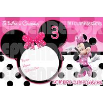 Imagen De Invitacion Minnie Mouse Puntos- Invitaciones Epv