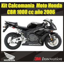 Kit Calcomanias Moto Honda Cbr 1000 Rr Año 2006