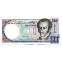 Billete De 500 Bolívares Junio 5 De 1995 Serial J8