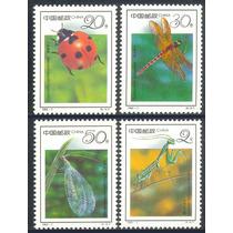 Estampillas De China Serie De 4 Valores De 1992 Insectos