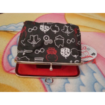 Bolso Neceser. Women´secret. Color Negro Con Dibujos.