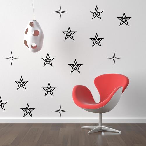 stickers vinilos decorativos flores estrellas paredes full