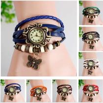 Relojes De Cuero Pulsera Vintage Full Colores Mayor Y Detal