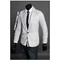 Blazer Fashion Slim Fit Fresh Light Gray Caballero Ainka