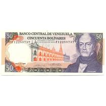 Billete De 50 Bolívares Mayo 31 De 1990 Serial F8