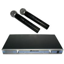 Microfono Inalambrico Profesional Ak-268 Audesbo 150m Vhf