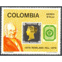 Estampillas De Colombia 1 Valor De 1979 Sir Rowland Hill