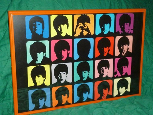 Cuadro enmarcado de colecci n de los beatles 3 bs for Enmarcado de cuadros precios
