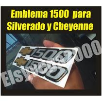 Emblema Calcomania 1500 Para Chevrolet Silverado Y Cheyenee