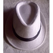 Sombrero Estilo Borsalino, Multiuso, Unicolor Blanco