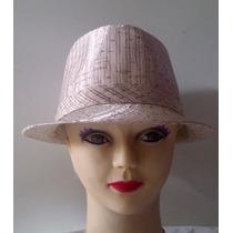 Sombrero Estilo Borsalino, Multiuso, Tela Satinada, Unicolor