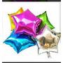 Globos Metalizados De Corazones Y Estrellas Unicolores De 4