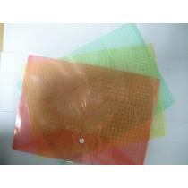 Sobre Plastico Oficio Con Boton X 12 Pz