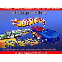Kit Imprimible Hot Weels 2014 Cumpleaños Cotillón Tarjetas