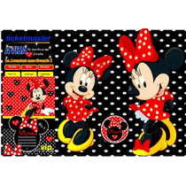 Kit Imprimible Minnie Roja Tarjeta Decoracion Fiesta Ideas