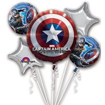 Globos Metalizados Capitan America Importados A 260 Bs