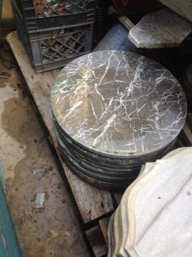 Piedra de m rmol redonda 50cm diametro mesita tope bs f for Piedra de marmol precio