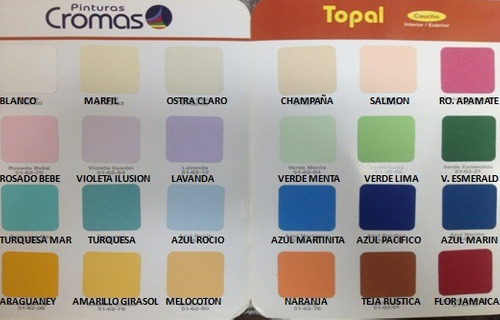 Pintura cromas imagui - Muestra de colores de pintura para interiores ...