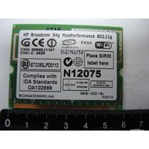 Tarjeta De Red Wi-fi Hp Broadcom 54g Max Performance 802.11g
