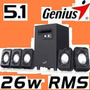 Speakers Cornetas Genius Sw-5.1 1020 Con Subwoofer 26watt