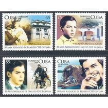 Estampillas Cuba Serie 4 Valores De 2008 Ché Guevara