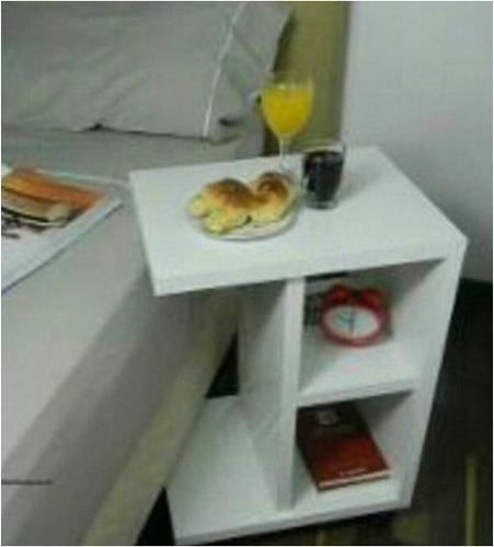 Mesas de noche mesa auxiliar moderna minimalista mdf crudo - Mesas de noche modernas ...