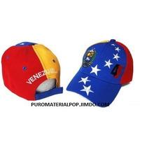 Gorra Tricolor De Venezuela.. Polo Prelavada Drill Acrilica
