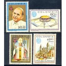 Estampillas Colombia Serie Visita Papa Juan Xxiii 1968