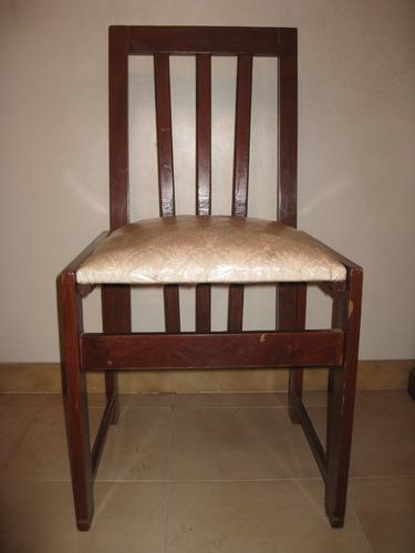 Juego de comedor en madera con 4 sillas bs vzn3o for Precio de comedor de 4 sillas de madera