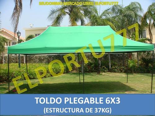 Toldo plegable 6x3 resistente de 37kg con lona de 800dd bs svj2m precio d venezuela - Toldo plegable ...