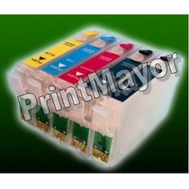Pack Cartuchos Recargables 138 Y 140 Tx525fw Epson Stylus